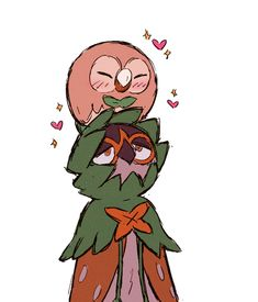Nope, nope, nope, Bokuto is going to always be a rowlet, BUT I did raise another rowlet who just evolved into Decidueye! Decidueye Pokemon, Pokemon Moon, Pokemon Games, Cute Pokemon, Pikachu, Pokemon Stuff, Pokemon Starters, Pokemon Pictures, Cute Art