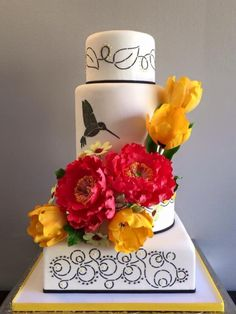 Hummingbird Wedding Cake - Cake by Antonio Balbuena