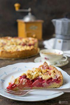 Säuerlich-süßer Himbeer-Rhabarber-Kuchen   Madame Cuisine Rezept