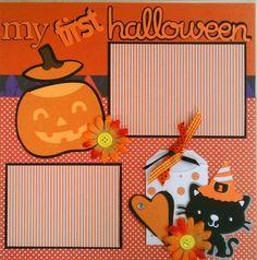 My First Halloween 12x12 premade scrapbook layout