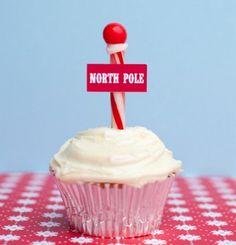 Santa North Pole cupcakes