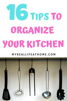 Tip to Organize Your Kitchen - Simple ideas to organize your kitchen regardless of size. #organize #organizinghacks #kitchen #home #tips #organizeyourkitchen #pantry #organization #organizingideas #howto