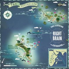 Lonely planet # May issue {Seychelles map}