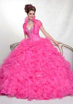 88050 Quinceanera Gowns 88050 Beaded Organza www.BridesofAmerica.com