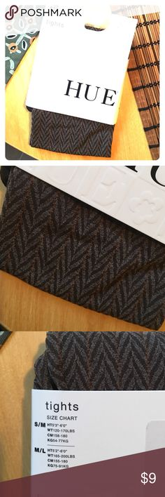 Hue tights Brand new tights. Beautiful fun pinstripe herringbone pattern HUE Accessories Hosiery & Socks