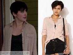 Grimm: Season 3 Episode 20 Trubel's Pink Crinkle Shirt - ShopYourTv