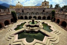 Fountain courtyard, Antigua, Guatemala