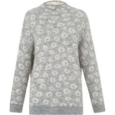 Whistles Alpaca Blend Jacquard Jumper (€120) ❤ liked on Polyvore featuring tops, sweaters, jacquard sweater, raglan sleeve sweater, raglan sweater, slim fit sweater and slim sweaters