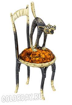 """фигурка """"Кот на Стуле"""" Baltic Amber, Dining Chairs, Furniture, Home Decor, Dinner Chairs, Homemade Home Decor, Dining Chair, Home Furnishings, Decoration Home"""