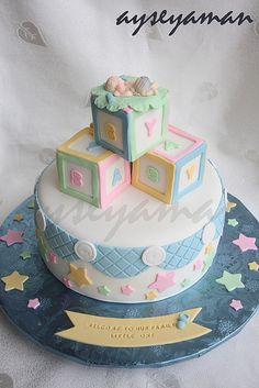 "https://flic.kr/p/7A8F9s | Baby shower cake for a boy | Ayse's Cakes NJ, NY, PA <a href=""http://www.ayseyaman.com"" rel=""nofollow"">www.ayseyaman.com</a>"