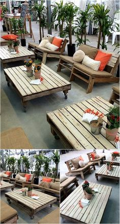 Here we will share the idea of creating the outdoor furniture using the pallets as well as decorating it because not only making the recycled wooden pallet is enough for the attractive look; the decoration matters a lot. You can see the cushions of different sizes; shapes and colors are used for the decoration purpose.
