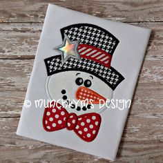 Hey, I found this really awesome Etsy listing at https://www.etsy.com/listing/170570235/mister-winter-snowman-applique