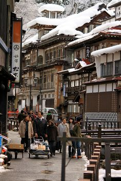 Town in Yamagata, Japan, after a snowfall Yamagata, Kyoto, Japan Kultur, Places Around The World, Around The Worlds, Places To Travel, Places To Go, All About Japan, Kyushu