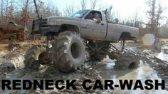 Redneck car-wash #mudding #mud bogging