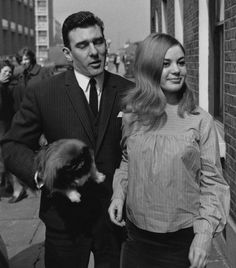 Gangster: Reggie Kray with his then fiance, Frances Shea