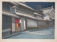 """Sekino, Junichiro (1914-1988),  Narumi, Series : Fifty-Three Stations of Tokaido, 16.75"""" x 21.75"""", Woodblock Print, 1974"""