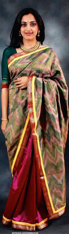 Handwoven Pochampalli saree of Andhra pradesh...