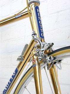 Benotto 18 karat gold 5. Bella bicicleta Benotto, recuerdo la bicicleta de tres velocidades! Lo máximo en aquella época.