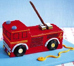 Fire engine cake Firefighter Birthday Cakes, Truck Birthday Cakes, Fireman Birthday, Fireman Party, Leo Birthday, Birthday Cakes For Men, Birthday Ideas, Birthday Parties, Fire Engine Cake