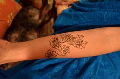 Bollywood inspired ASHFoundation fundraiser 2014. Henna tattoo