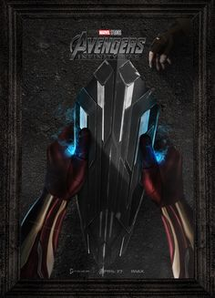Avengers infinity war iron man captain america kinetic shield poster