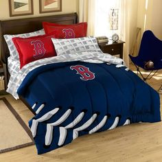 Boston Red Sox MLB Comforter Set by The Northwest - MLB Comforter Set - Polyester - $103