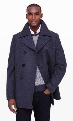 Wool Pea Coat - Club Monaco Outerwear - Club Monaco