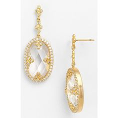 Freida Rothman 'Metropolitan' Drop Earrings (245 CAD) ❤ liked on Polyvore featuring jewelry, earrings, freida rothman, polish jewelry, 14 karat gold earrings, 14 karat gold jewelry and earrings jewelry