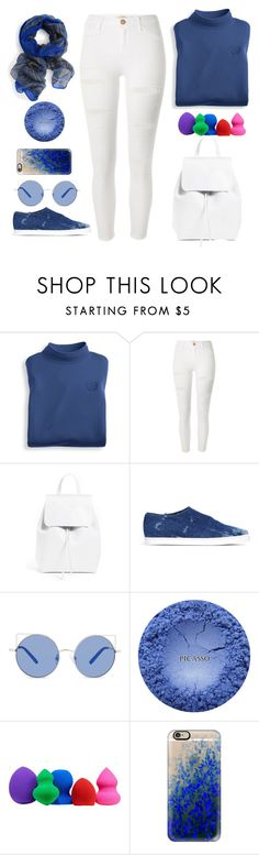 """white and blue :*  the legend of blue sea 🌊"" by naomy-nona ❤ liked on Polyvore featuring Blair, River Island, Mansur Gavriel, STELLA McCARTNEY, Matthew Williamson, Sephora Collection and Casetify"