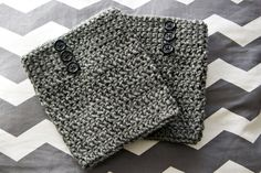 Crocheted Boot Cuffs with Buttons by EmilyJaneDesignsInc on Etsy, $18.95