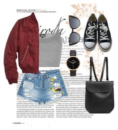 """Untitled #61"" by clodfever on Polyvore featuring Topshop, Converse, GRETCHEN, Fendi and Nixon"