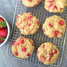 Whole Wheat Strawberry Muffins | Healthy Ideas for Kids