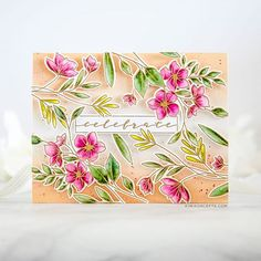Waffle Flower x Tombow Inspiration: Faux Watercolor Celebrate Card (Kiwi Koncepts) Kiwi, Tombow Dual Brush Pen, Instagram Giveaway, Instagram Feed, Watercolor Cards, My Stamp, Flower Cards, Hello Everyone, Handmade Crafts