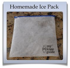 Create your own homemade ice packs after knee replacement surgery.