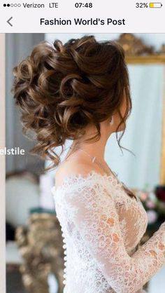 Trendy Wedding Hairstyles For Long Hair Curly Waves Hairdos Half Up Wedding Hair, Romantic Wedding Hair, Wedding Hairstyles For Long Hair, Party Hairstyles, Wedding Hair And Makeup, Bride Hairstyles, Trendy Wedding, Bridal Hair Updo High, High Updo Wedding