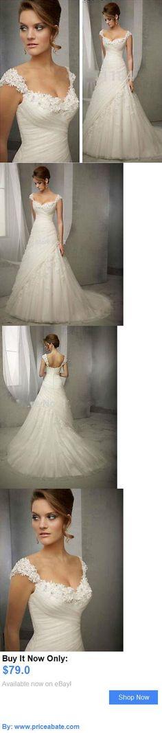 Wedding Dresses: New White/Ivory Lace Wedding Dress Bridal Gown Custom Size 2 4 6 8 10 12 14 16 BUY IT NOW ONLY: $79.0 #priceabateWeddingDresses OR #priceabate