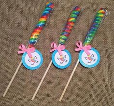 Take your party to the next level with this super cute Unicorn Lollipop Twist. This lollipop is the perfect addition to any treat table or works as an excellent party favor. Lollipop Birthday, Unicorn Themed Birthday Party, Birthday Favors, Unicorn Birthday Parties, Birthday Party Favors, First Birthday Parties, 5th Birthday, Rainbow Party Favors, Lollipop Party