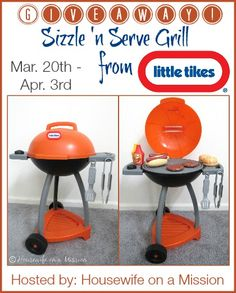 Little Tikes Sizzle 'n Serve Grill | Review   A Giveaway