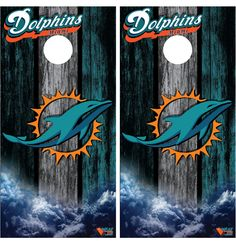 miami dolphins cornhole board wraps by on etsy - Cornhole Board Wraps