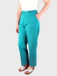 Vintage 1980's Turquoise / Aqua High Waisted Wrangler by bytheway