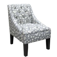 Love this tufted chair.