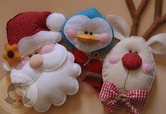 Felt Christmas ornaments...<3
