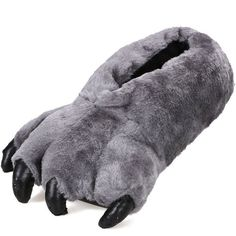 """Amazon.com: Adult Cute Plush Animal Paw Slippers Fuzzy Warm Indoor Shoes, 3612_Black 10.2"""": Shoes"""