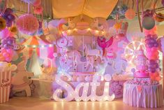 Safi's Girly Carnival Themed Party – Birthday - Party Doll Manila Carousel Birthday Parties, Carousel Party, Carnival Themed Party, Circus Birthday, Unicorn Birthday Parties, Birthday Party Themes, Girl Birthday, Birthday Design, Birthday Ideas