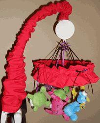 "8"" Monster Ruffle Baby Crib Mobile"