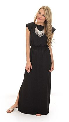 Knock Your Smock Off Maxi, Black :: NEW ARRIVALS :: The Blue Door Boutique