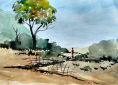 Watercolor Painting For Beginners - Village House Landscape ...