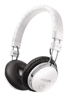 6c697a5b5d9 Philips SHB8000WT CitiScape Foldie Wireless Bluetooth Headset Noise  Isolating On-Ear Headphones (SHB8000 White