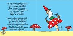 Op een grote paddenstoel
