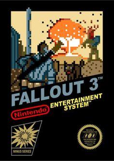 Fallout 3 NES cover art